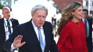 Boris Johnson and his wife