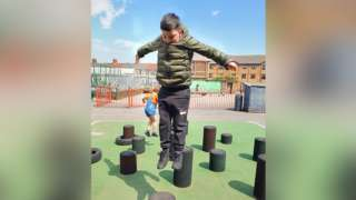 Pupil playing in Moorland hub