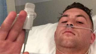 David Ferguson in hospital