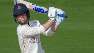 Alex Davies batting for Lancashire