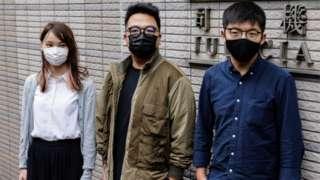 Agnes Chow, Ivan Lam, Joshua Wong
