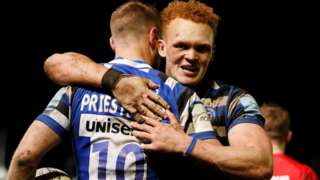Bath celebrated only a fourth league defeat of the season for Saracens