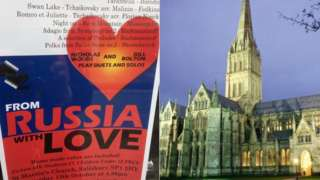 Poster and Salisbury Cathedral
