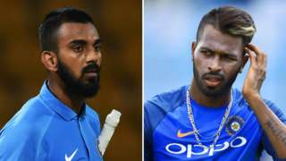 KL Rahul (left) and Hardik Pandya
