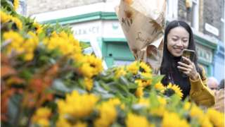 Self-employed flower sellers have faced a drop in income