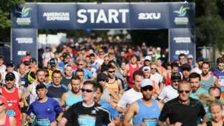 Runners at the Brighton Marathon