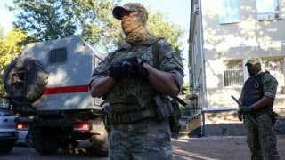сотрудник Росгвардии в Крыму