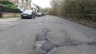 Potholes on Latimer Road, Chesham