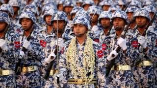 Военный парад в Мьянме