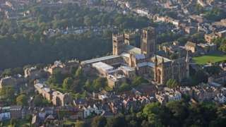 Aerial view of Durham