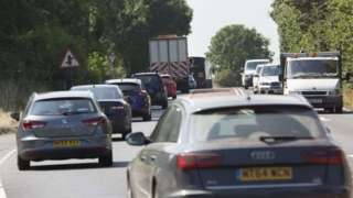 Congestion on the A303 in Somerset