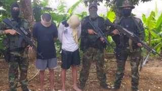 "Two ""mercenaries"" the Venezuelan military says it captured"