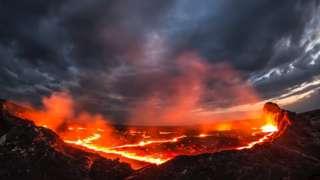 Erta Ale lava na Etiopia, Africa