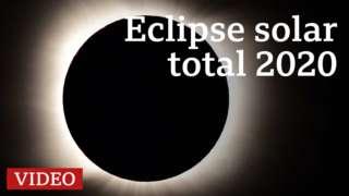 Así fue el eclipse solar total del 14 diciembre 2020