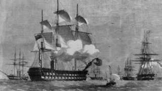 A British navy ship during the 2nd Opium War