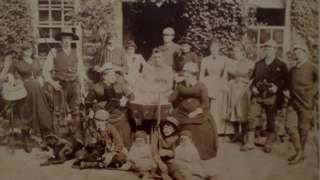 The Kirkby family at the house in 1886