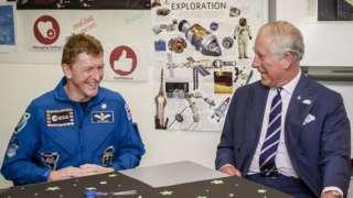 Tim Peake and Prince Charles