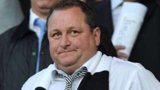 Mike Ashley at Newcastle match