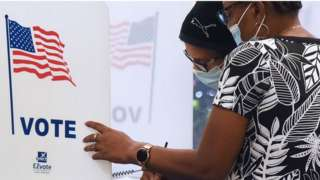 US voting booth