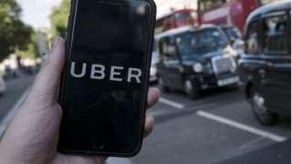 Uber app photo
