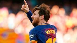 Leo Messi dey celebrate