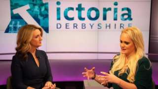 Jennifer Arcuri speaks to the BBC's Victoria Derbyshire