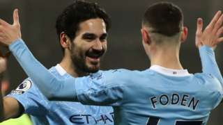 Ilkay Gundogan and Phil Foden