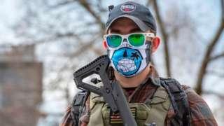 Boogaloo Boi militia in Concord, New Hampshire