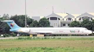 रायपुर में खड़ा बांग्लादेश का विमान