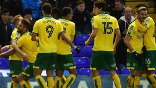 Norwich's first goal scorer Alex Pritchard (far left) was making only his fourth start of the season after four months out with an ankle injury