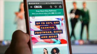 ASOS on a mobile phone