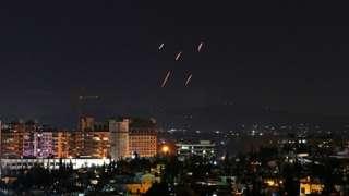 Şam'da İsaril bombardımanı
