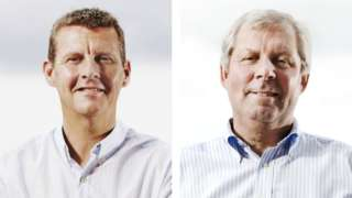 BBC Athletics commentators Steve Cram and Brendan Foster