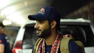 Mohamed Hamad Mohamed Al Khalifa arriving in Nepal