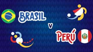 Brazil v Peru badge graphic