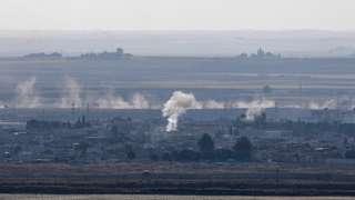 Smoke over Ras al-Ain, 18 October
