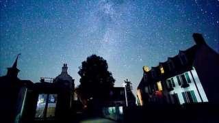 Stars above The Avenue in Sark