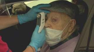 Thomas gets an eye test