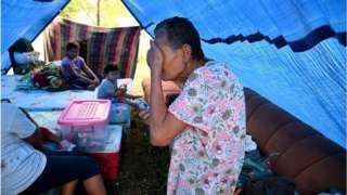 Damnificados en Honduras