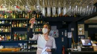 Woman in pub