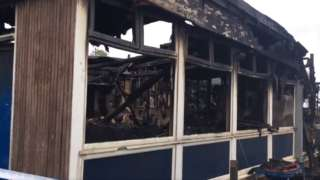 Damage to Rift House Primary School