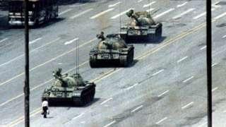 One of the original Tank Man shots in Beijing