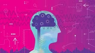 Ilustração mostra cabeça de perfil, com cérebro e ondas cerebrais desenhadas