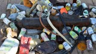 Rubbish found on HMS Invincible
