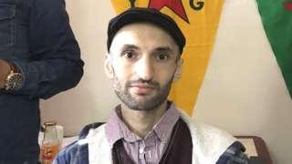 Imam Sis in Kurdish community centre in Newport