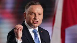 Polish President and member of the right-wing Law and Justice (PiS) party, Andrzej Duda