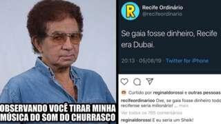 Perfil de Reginaldo Rossi nas redes sociais usam a primeira pessoa e o humor como estatégia para se aproximar de fãs