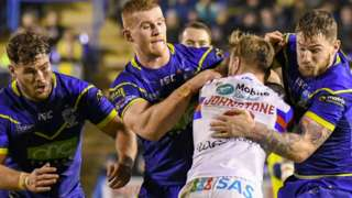 Warrington Wolves defended resolutely against Wakefield in the second half