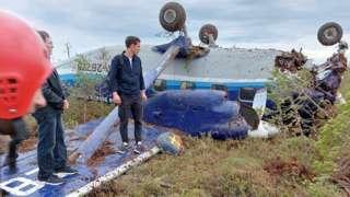Ан-28, место вынужденной посадки