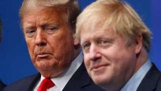 2019年12月4日,美国总统唐纳德·特朗普和英国首相鲍里斯·约翰逊